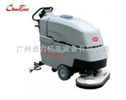 商用自动双刷洗地机